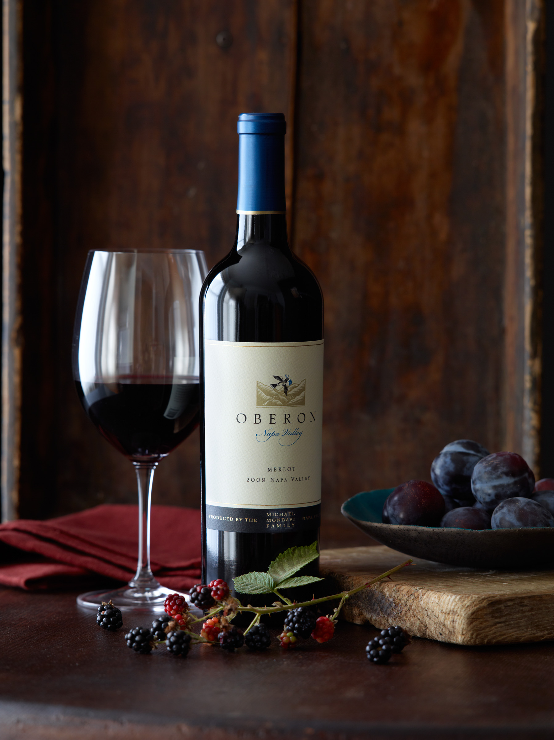 Robyn Valarik San Francisco Based Food & Drink Stylist - Merlot, red, wine, California, grapes, still-life, figs, berries, bottle, terrior, label, food-photography